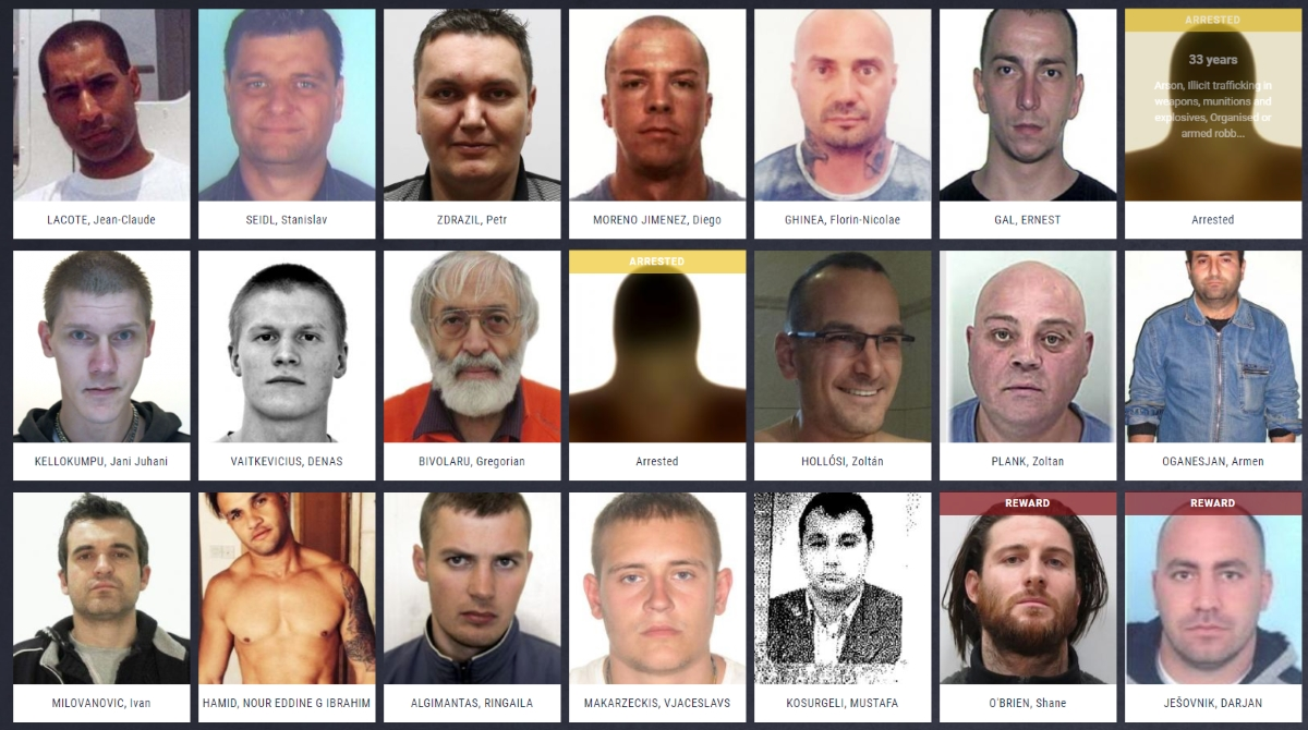 Fbi Most Wanted List 2020.Europol S Most Wanted Fugitives List Proves Helpful The