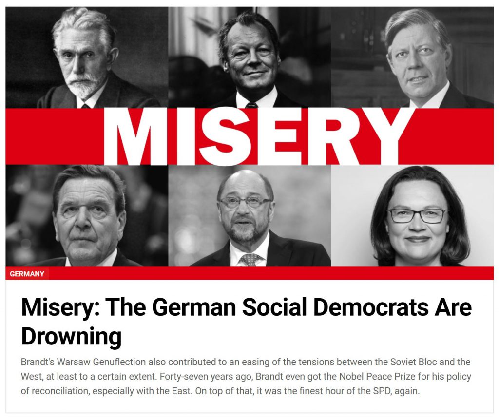 Misery: The German Social Democrats Are Drowning – The Berlin Spectator