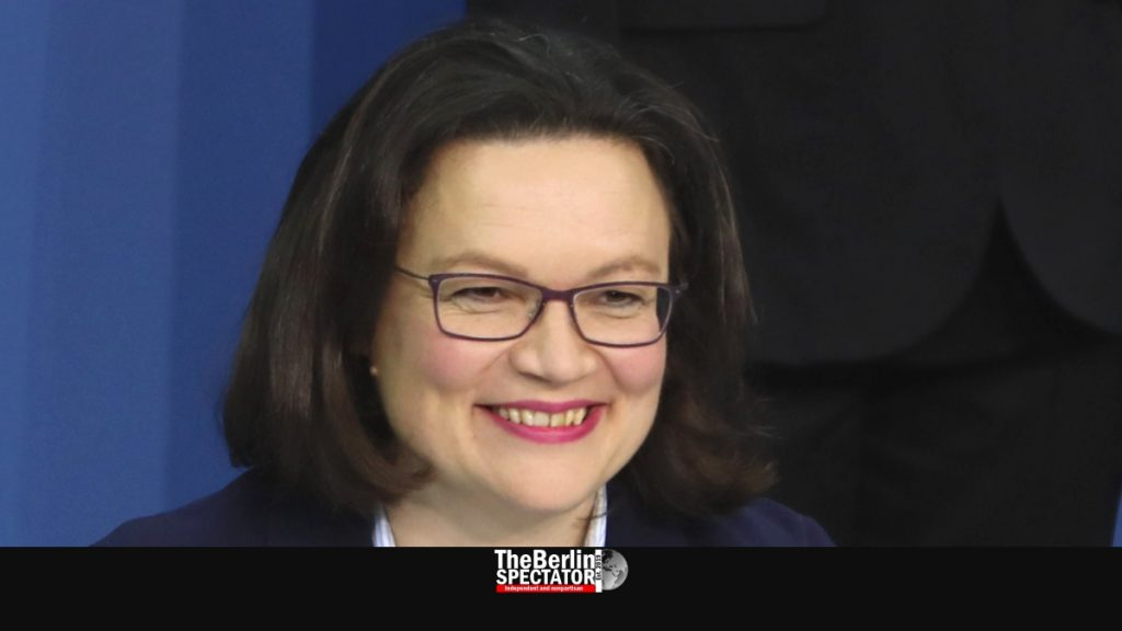 Andrea Nahles was bullied out of the chairlady's office. Photo: Sandro Hallank