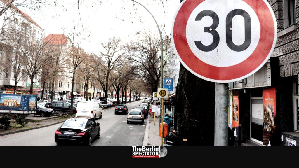 Berlin's 30 km/h zones include main streets like 'Sonnenallee'.